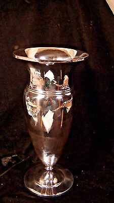 "Sterling Silver Trumpet Vase, Not Weighted, 9 1/2"" tall, by MFH (Fred Hirsh)"