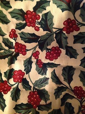 Longaberger Medium Fruit Basket Liner - Traditional Holly