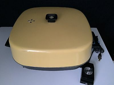 Vintage G.E. Yellow Electric Skillet With Dome Lid
