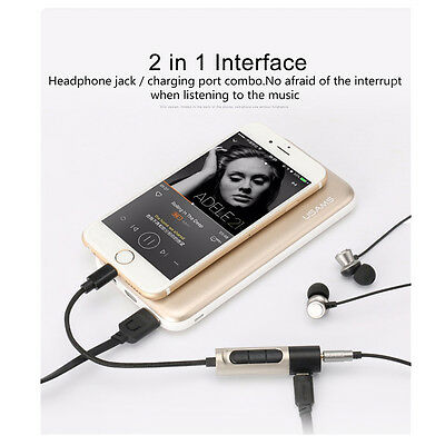 2-in-1 Charge Earphone Audio Plug Adapter With Controller For iPhone 7/7 Plus