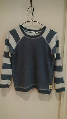 COUNTRY ROAD Boys Cotton Long Sleeves Machine Knit Stretch Sweater Jumper Sz 10