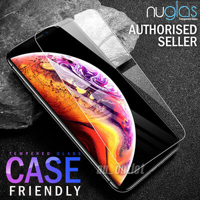 2x GENUINE NUGLAS Apple iPhone 8 7 6s 6 Plus Tempered Glass Screen Protector