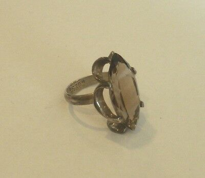 Vintage Smoky Topaz in sterling silver setting - 425