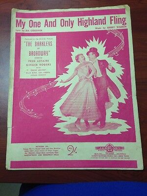 Sheet Music - My One And Only Highland Fling - Fred Astaire and Ginger Rogers.