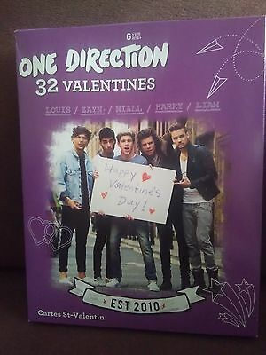 One Direction Valentines Day Cards Box of 32 Cards