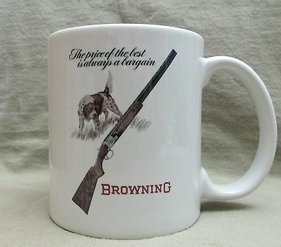 Classic Browning Superposed Shotgun with Hunting Dog Coffee Cup, Mug - New