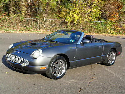 2003 Ford Thunderbird Convertible 70K MILES! 1-OWNER! LIKE NEW TIRES! NO RESERVE 2DR COUPE LEATHER HEATED SEATS CD-CHANGER CLEAN RUNS DRIVES GREAT