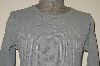 Vintage 70s Handtex USA Mens Medium Gray 50/50 Thermal Shirt