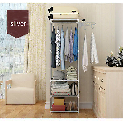 Metal Coat Rack Hall Stand Clothes Shoes Hat Rack Steel Hanger Holder 1700x500mm