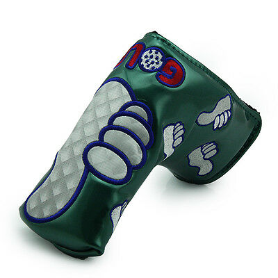 Thumbs Up Golf Steel GREEN PU Leather Putter Cover by Guiote Golf Free Delivery