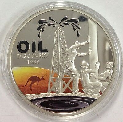 2013 $1 Australian Oil Discovery 1953 issued by Niue Silver proof coin