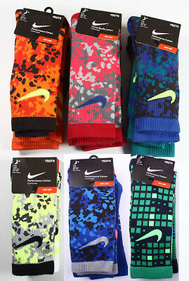Youth Nike 3-Pack Graphic Performance Cotton Crew Socks Camo YOUTH 3Y-5Y 5Y-7Y
