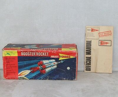 Century 21 JR21 1967 Spaceship Booster Rocket Battery Op Project Sword Box Only