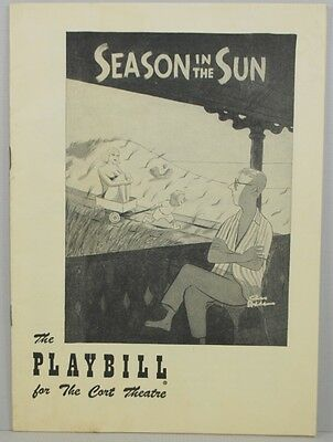 Addams Family Chas Charles Vintage 1951 Playbill Pugsley Naked Lady