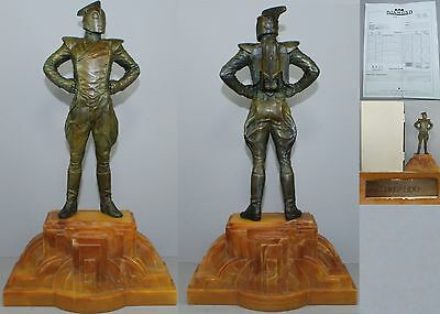 Disney Rocketeer 1990 Bronze Statue Kent Melton Limited Edition 1 of 50 Art Deco