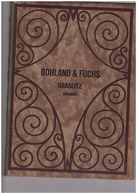 Bohland & Fuchs Musical Instruments Catalog Old Rare