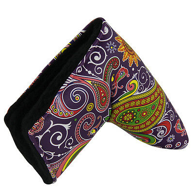 PURPLE Shagadelic Premium PU Leather Putter Head Cover FREE DELIVERY