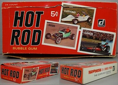 Hot Rod 1965 Donruss Spec Sheet Wax Pack Display Box
