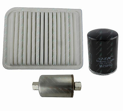 Oil Air Fuel Filter Service Kit Ford Falcon BA I-II T 6Cyl 4L 09/02-09/05 BARRA