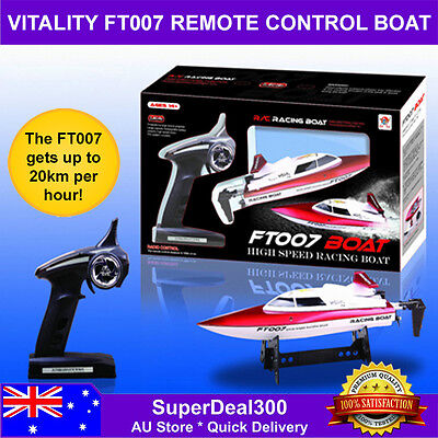 Vitality Ft007 2.4Ghz High Speed 4Ch Remote Control Racing Boat (Red) - 490 Ft R