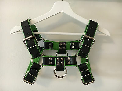 Mens BULLDOG Harness Leather  -  Kelly Green -  BRAND NEW