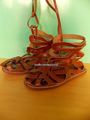 Medieval Greek Roman Soldier Centurion Gladiator Leather Marching Sca Sandals