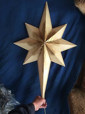 """Vintage Large Hard Plastic Blow Mold Christmas Star Light Up Lamp Outdoor 30"""""""