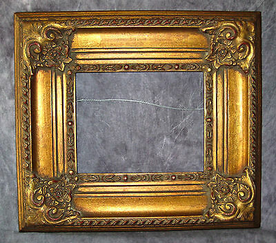Vintage Ornate High Relief Gesso Compo Gilt Gallery Picture Frame Fits 8x10 Art