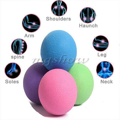 Lacrosse Massage Ball Crossfit Injury Rehab Therapy Trigger Point Gym Yoga Tool