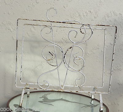 Vintage Retro Industrial Shabby chic wrought iron magazine rack