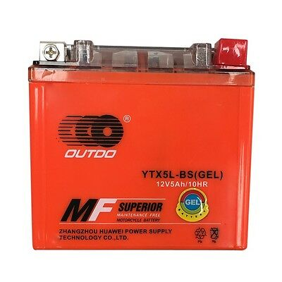 GEL YTX5L-BS Battery for KTM 450 520 525 EXC XC SX DVX YFM Raptor50 90 sa