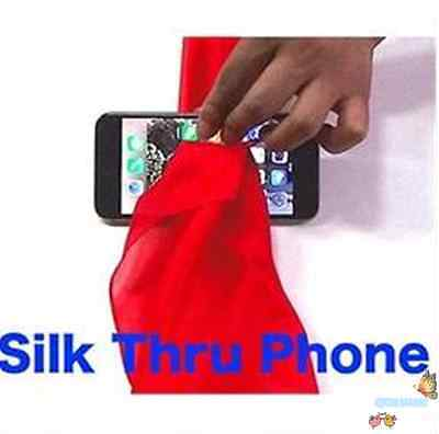 Silk Thru Phone (Gimmicks and Online Instructions),Close Up Magic,Stage,Illusion