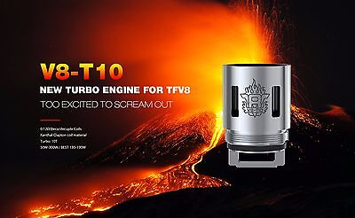 Genuine Smok Replacement TFV8 T10 Coils -  Scratch & Check Online