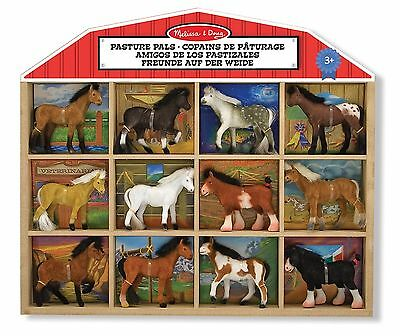 Melissa & Doug Pasture Pals - 8 Collectible Horses With Wooden Barn-Shaped Cr...