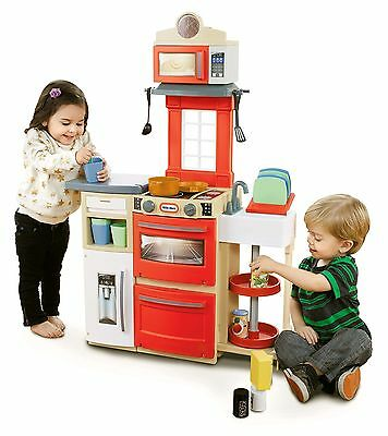 Little Tikes Cook 'N Store Kitchen Red Playset Standard Packaging