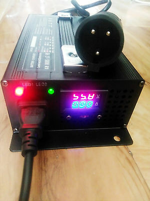 48v Club Car Golf Cart Battery Charger Connector 48 volt 15 Amp Round 3 Pin Plug