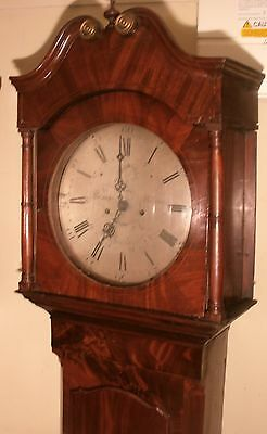 "Antique Mahogany ""Cheadle "" Silvered Engraved Dial Longcase / Grandfather Clock"
