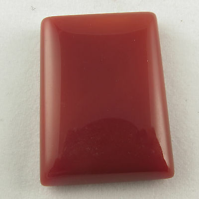 Lovely Rectangle Cabochon 29.60 Cts Original CARNELIAN Gemstone 27x19 mm Trader