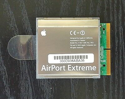 """Original Apple PowerBook G4 15"""" A1027 AirPort Extreme WiFi 825-6263-A  603-3916"""