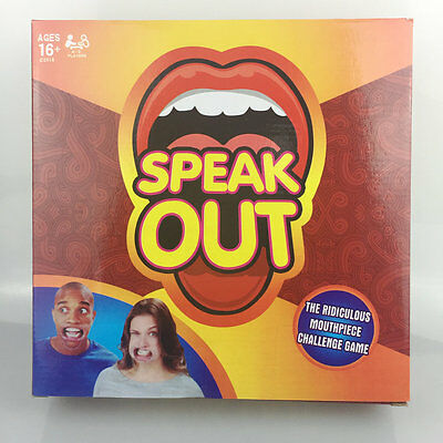 Speak Out Funny Mouthguard Challenge Party Board Game Xmas Gift Toy NEW