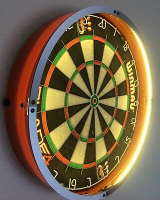 LED Dartboard Light Surround Vibrant Colours Fits in Seconds Fits Winmau Boards