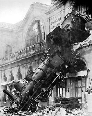 Vintage Old Transport Rail Poster Train Wreck Montparnasse Print Picture A3 A4