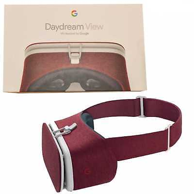 Bnib Google Daydream View Crimson Red Virtual Reality / Vr Headset