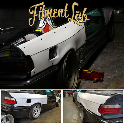 """""""Fitment Lab"""" Rear Overfenders Wide Body BMW E36 Coupe (not a felony form)"""