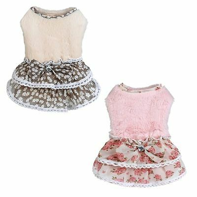 Pet Puppy Small Dog Cat Lace Skirt Princess Tutu Dress Clothes Apparel Costume