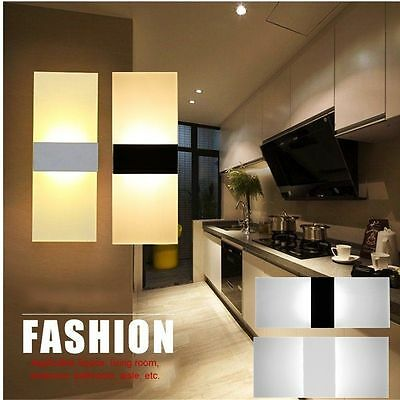 Acrylic 3/6/12W Led Wall Light UP & Down 85V-265V LED Stair Bedside Lamp Bedroom