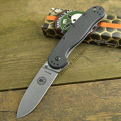 ESEE Avispa Black FRN Handle Satin Finish AUS-8 Framelock Knife BRK1301