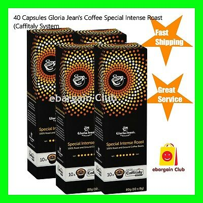 40 Capsules Gloria Jeans Coffee Special Intense Roast Pod Caffitaly System eBC