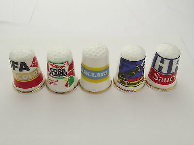 Thimbles  - 5 X Advertising Thimbles As Per Pictures - Lots More Available Lot 1