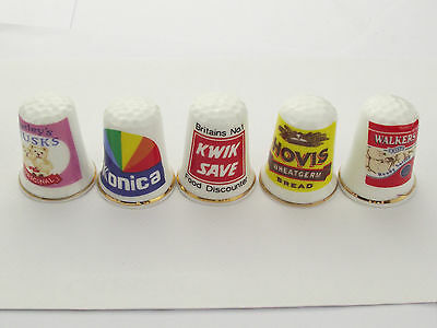Thimbles  - 5 X Advertising Thimbles As Per Pictures - Lots More Available Lot 2
